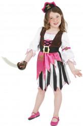 Piratenkostüm rosa für Mädchen