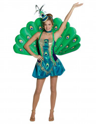 Pfau-Kostüm für Damen