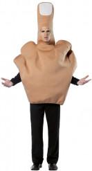 Stinkefinger-Kostüm für Erwachsene hautfarben