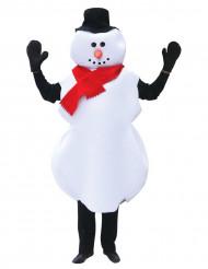 Schneemann-Kostüm Weihnachten für Erwachsene