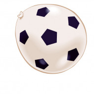 Luftballons Fußball