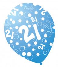 Geburtstagsballons blauglänzend mit Altersmotiv