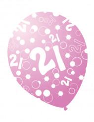 Rosaglänzende Geburtstagsballons