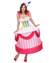 Geburtstagskuchen-Kostüm für Damen