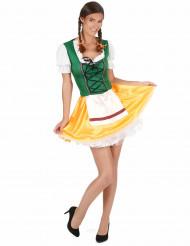 Sexy Dirndl Bayerin Kostüm für Damen bunt