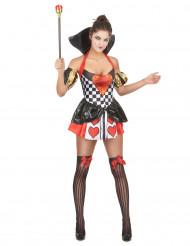 Herzkönigin-Kostüm für Damen