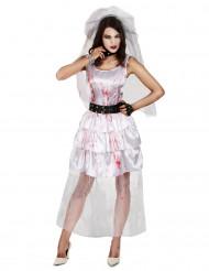 Zombie Braut Kostüm Damen Halloween
