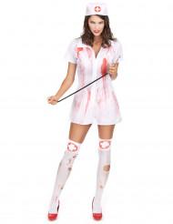 Blutiges Krankenschwestern Halloween Kostüm für Damen