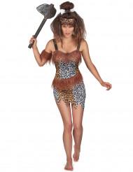 Steinzeit Höhlenmensch-Kostüm für Damen