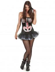 Sexy Skelett-Kostüm Halloween für Damen