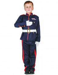 Offiziers-Kinderkostüm für Jungen blau-rot-weiss
