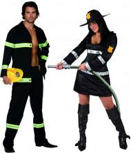 Feuerwehrmann-Paarkostüm für Erwachsene