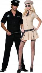 Sexy Polizisten- und Polizistinnen -  Kostüm für Paare