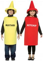 Ketchup und Senf-Kostüm für Kinder