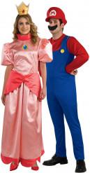 Prinzessin Peach™ und Mario™ Paarkostüm für Erwachsene