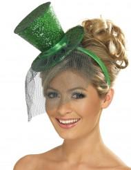 Mini-Hut mit grünen Pailletten