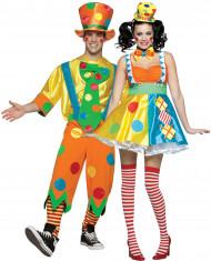 Clowns-Kostüm für Paare