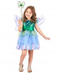 Feen-Kostüm für Mädchen Märchen grün-blau