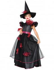 Hexen-Kinderkostüm schwarz-rot