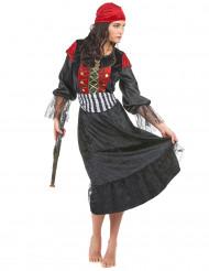Piraten Damenkostüm für Karneval bunt