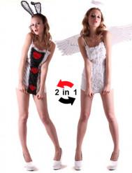Sexy Hasen oder Engel Kostüm für Damen