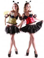 Sexy Bienen oder Marienkäfer Kostüm für Damen