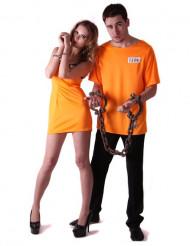 Gefangenen Paarkostüm für Erwachsene
