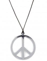 Riesen Hippie-Halskette in silber