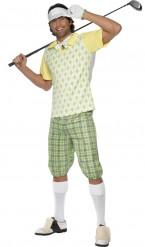 Golfer Kostüm für Erwachsene gelb grün