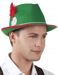 Bayrischer Hut aus Filz für Erwachsene grün
