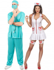 Krankenschwester und Arzt Paarkostüm für Erwachsene