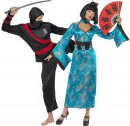 Chinesinnen und Ninja Paarkostüm