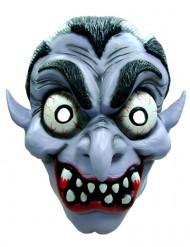Blutige Vampir-Maske blau-weiß-schwarz