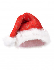 Weihnachtsmann-Mütze mit Pailletten