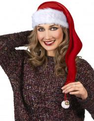 Weihnachtsmannmütze für Erwachsene mit Schelle