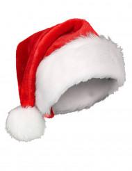 Weihnachtsmann-Mütze für Erwachsene in Samtoptik