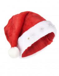 Leuchtende Nikolausmütze Weihnachtsmütze rot-weiss