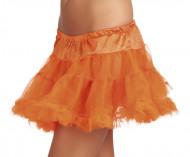 Orangefarbener Tüllunterrock für Damen
