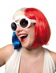 Fan - Perücke - Frankreich für Damen