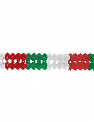 Rot-weiß-grüne Girlande