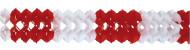 Rot-weiße Girlande