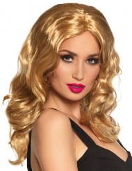 Perücke Langhaar blond für Erwachsene