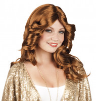 Langhaarperücke braun Disco für Damen