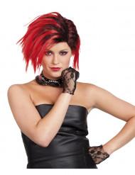 Punk - Rock Perücke rot für Damen