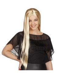 Glatte Langhaarperücke für Damen blond