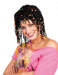 schwarze Rasta Perücke für Damen
