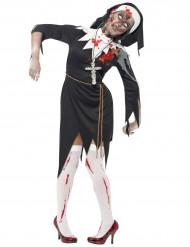 Zombie Nonnen Kostüm  Halloween für Damen