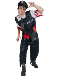 Zombie Polizistenkostüm Halloween für Herren