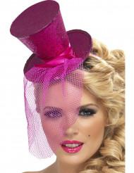 Rosaroter Minihut mit Pailletten für Damen