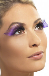 Lange falsche Wimpern in Violett für Damen